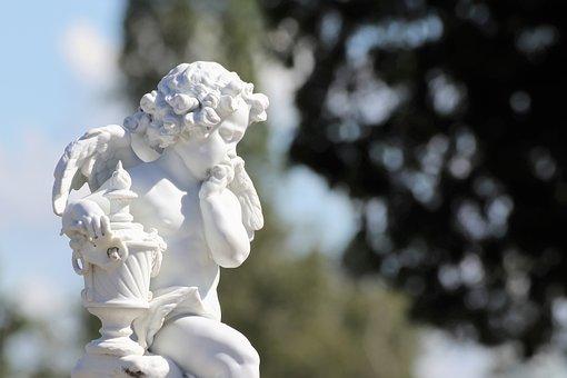 White Angel, Statue, Sculpture, Mirogoj Cemetery