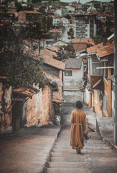 Street, Islamic, Girl, Old, Walk, Urban, Turkey, Ghetto