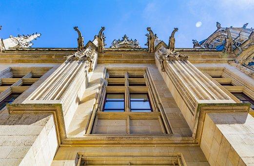 Facade, France, Rouen, Palais De Justice, Old, House