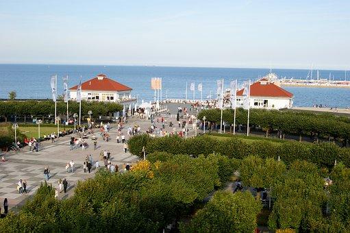 The Pier, Sopot, Sea, Poland, The Baltic Sea, Water