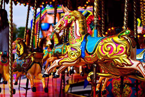 Carnival Horse, Fair, Carousel, Colourful, Ride