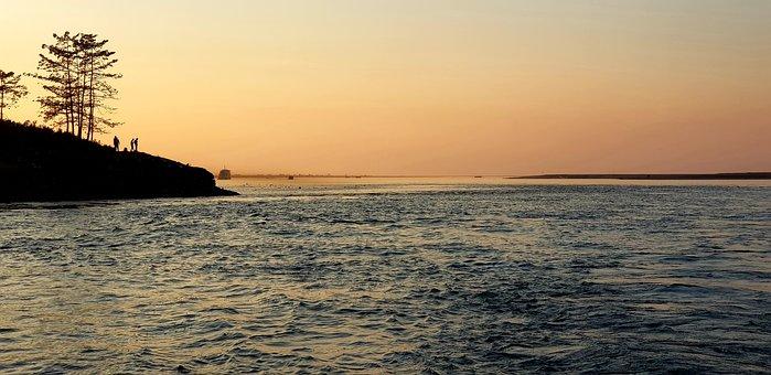 Majuli, Island, Assam, Sunset, River, Brahmaputra