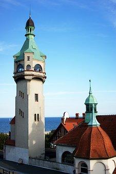 Lighthouse, Sopot, Sea, Monciak, Building, Old, Façades