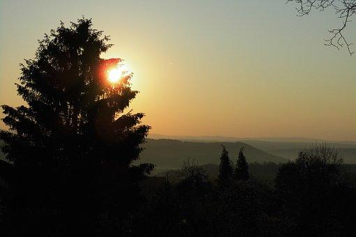 Sunrise, Thuringian Forest, Thuringia Germany