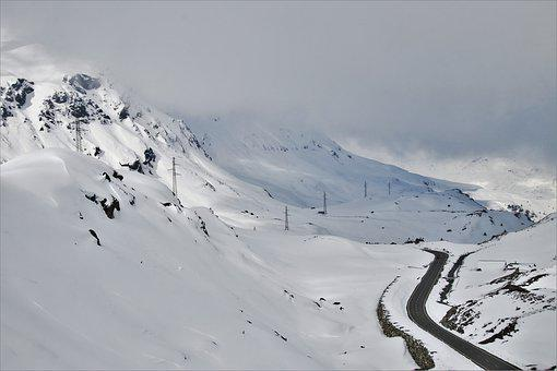 The Alps, Snow, Mountain, Bend, The Height Of The