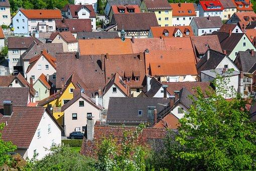Houses, Roofs, City, Village, Building, Cityscape
