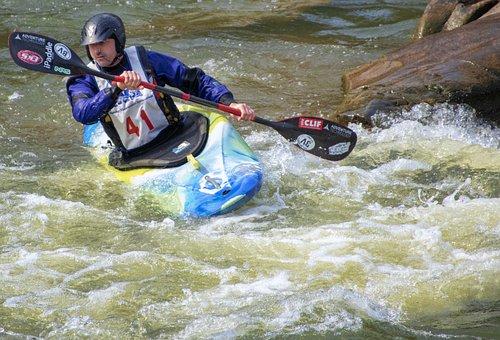 Kayak, River, Whitewater, Rapids, Race, Racing, Canoe