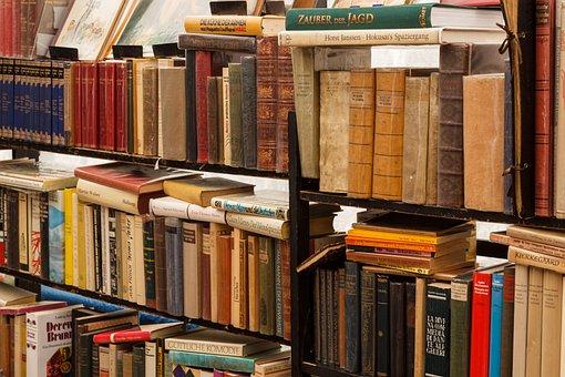 Books, Antiquariat, Literature, Antique, Library