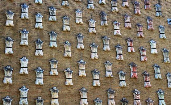 Waal, Art, Gypsum Torso, Brick Wall, Museum, Gent
