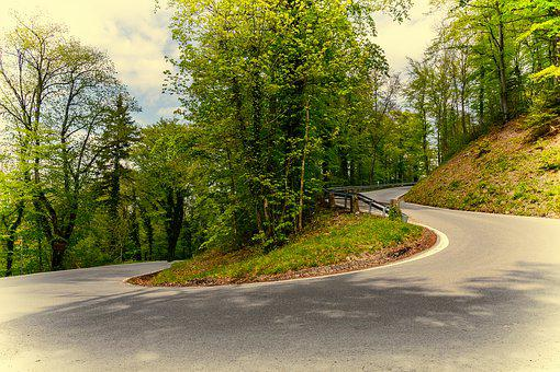Road, Curve, Serpentine, Asphalt, Route, Away, Curvy