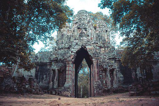 Cambodia, Bayon Temple, Gate Of The Death, Siam Reap