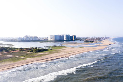 Beach From Above, Drone View, Aerial View