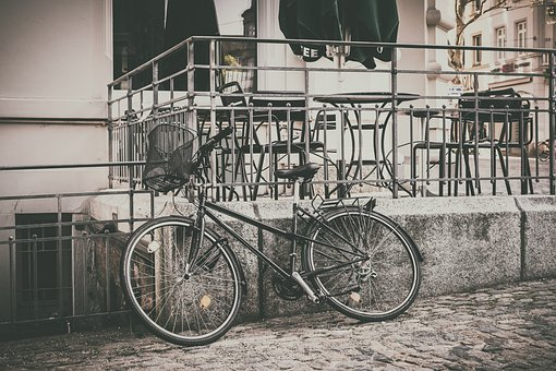 Bike, Parked, Basket, Cycle, Cycling, Activity