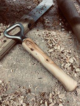 Bottles Opener, Wooden Handle, Wood Chips, Work Bench