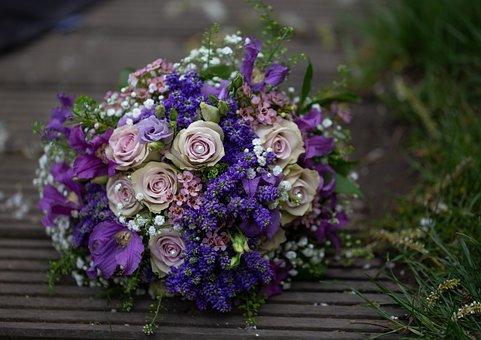 Bridal Bouquet, Bouquet, Wedding, Love, Flowers, Bride
