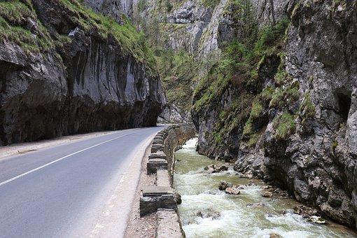 River, Road, Rock, Pierre, Creek, Water, Mountain
