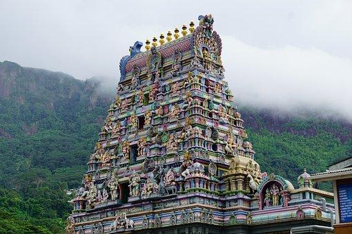 Temple, Seychelles, India, Religion, Art, Culture