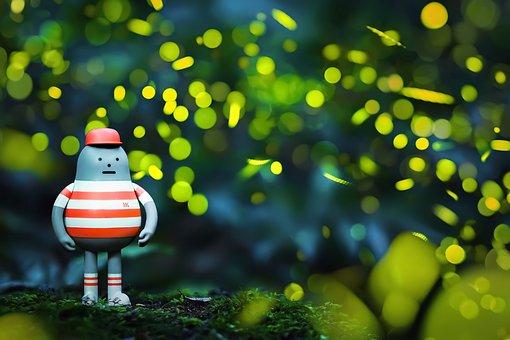 Taiwan, Firefly, Natural, Night, Fluorescent