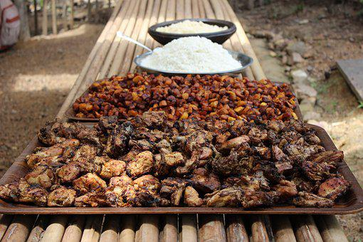 Food, African, Flat, Africa, Abidjan, Restoration