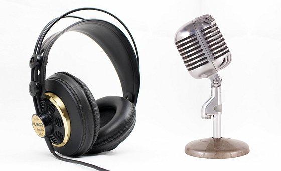 Podcast, Headset, Microphone, Radio, Audio, Internet