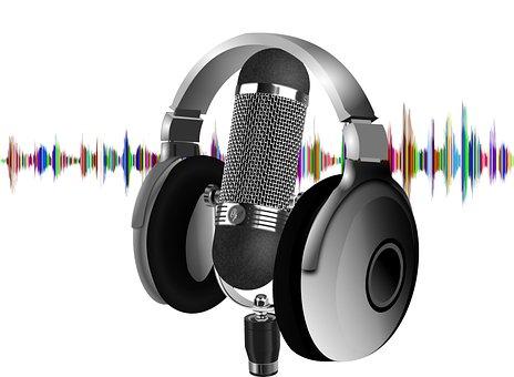 Podcast, Headset, Microphone, Wave, Sound, Radio, Audio