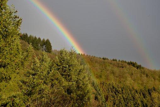 Rainbow, Nature, Landscape, Heaven, Colorful, Scenic