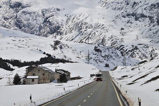 Switzerland, Mountains, Snow, Peak, Highway, High