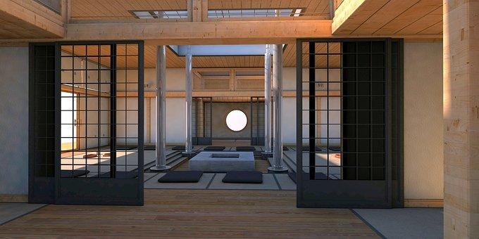 Asia, Live, Living Room, Japanese, Interior, Travel