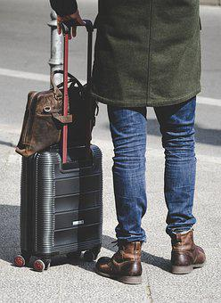Travel, Outfit, Clothing, Luggage, Fashion, Leather