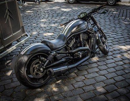 Motorcycle, Harley Davidson, Machine, Black, Luxury
