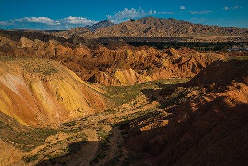 Mountain, Desert, Landscape, Nature, Outdoors, Valley
