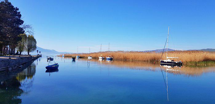 Ohrid Lake, Lake, North Macedonia, Boath, Macedonian