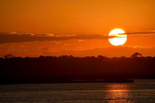Sunset, Vibrant Color, Orange, Bright, Sky, Landscape