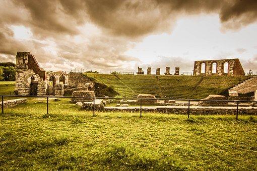 Gubbio, Umbria, Italy, Monument, Roman Theatre