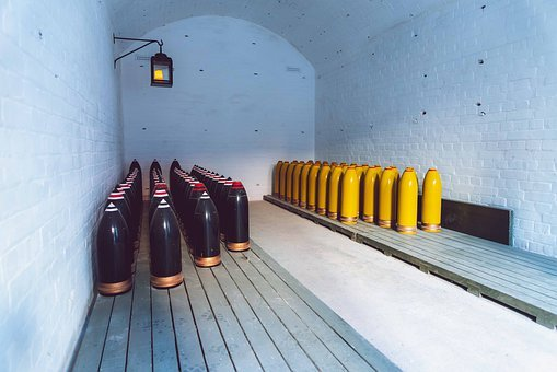 Storage, Bomb Shelter, Shells, Second World War, War
