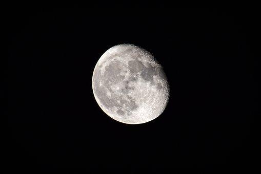 Moon, Night, Sky, Space
