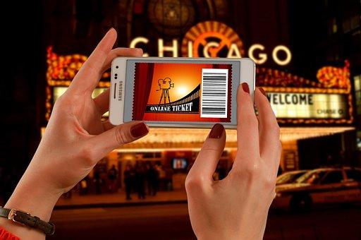 Cinema, Admission Ticket, Smartphone, Online Ticket