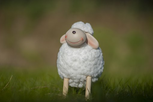 Lamb, Sheep, Grass, Animal, Wool, Cute, Spring, Toy