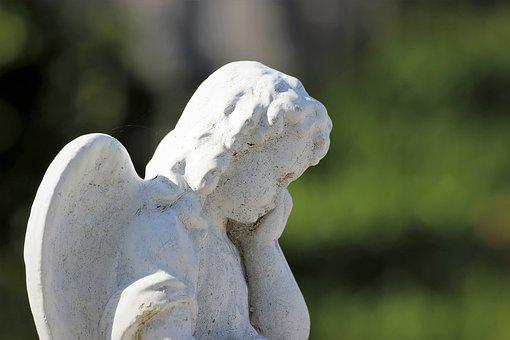 White Stone Angel, Crying, Statue, Monument