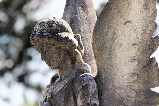 Stone Angel, Wings, Statue, Monument, Mirogoj Cemetery