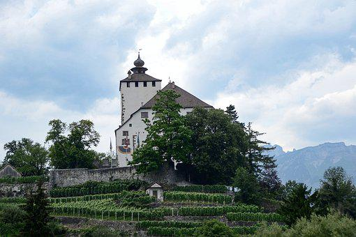 Castle, Be Mountain, Switzerland, Architecture