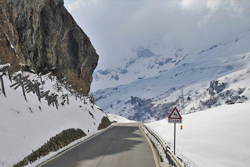 The Alps, Rocks, Mountains, Travel, Highway, High