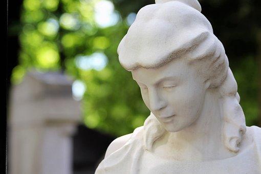 Woman, Sculpture, Monument, Mirogoj Cemetery, Zagreb