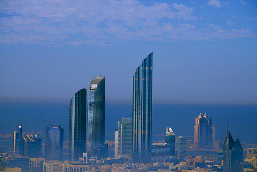City, Abu Dhabi, Emirates, Architecture, Urban, Skyline