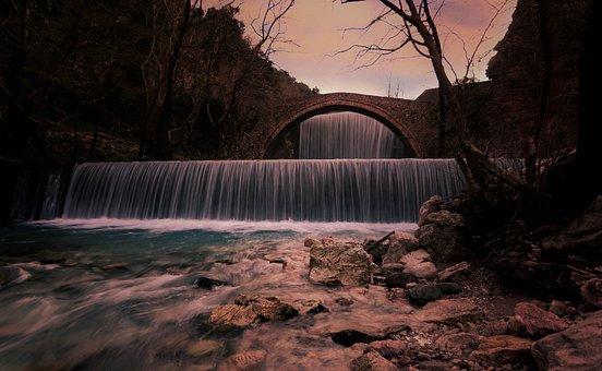 Waterfalls, Water, Nature, Landscape, Stream, Cascade