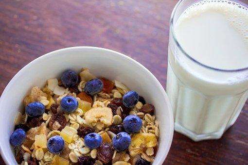 Muesli, Cereal, Oatmeal, Breakfast, Food, Fruit