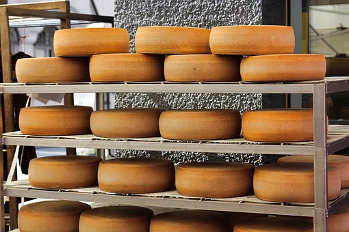 Cheese, Cheese Loaf, Food, Market Stall, Milk Product
