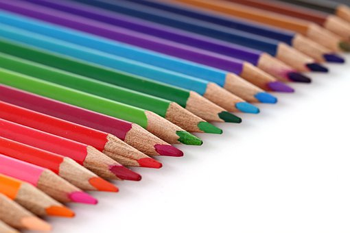 Pencil, Color, Coloured, Colorful, Rainbow, Colour