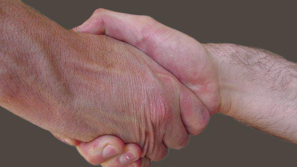 Handshake, Male, Partnership, Deal, Business, Welcome