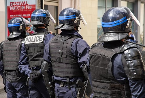 France, Police, Helmets, Event, Security